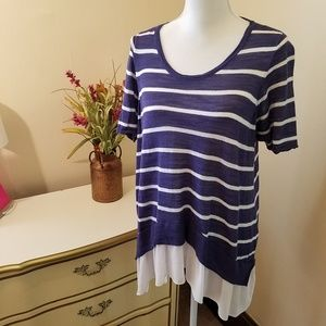 Extra Long Layered Look Tee Size Torrid 0 Large 12